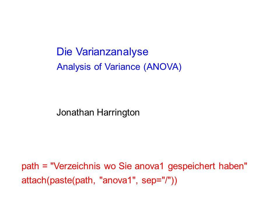 Die Varianzanalyse Jonathan Harrington Analysis of Variance (ANOVA) path =