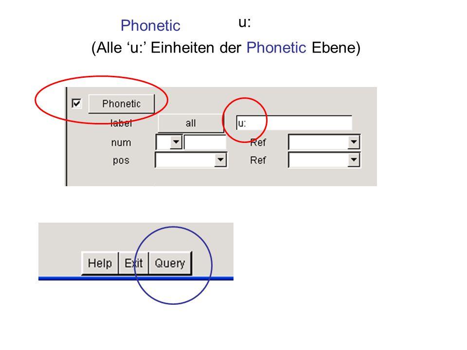 Phonetic u: (Alle u: Einheiten der Phonetic Ebene)