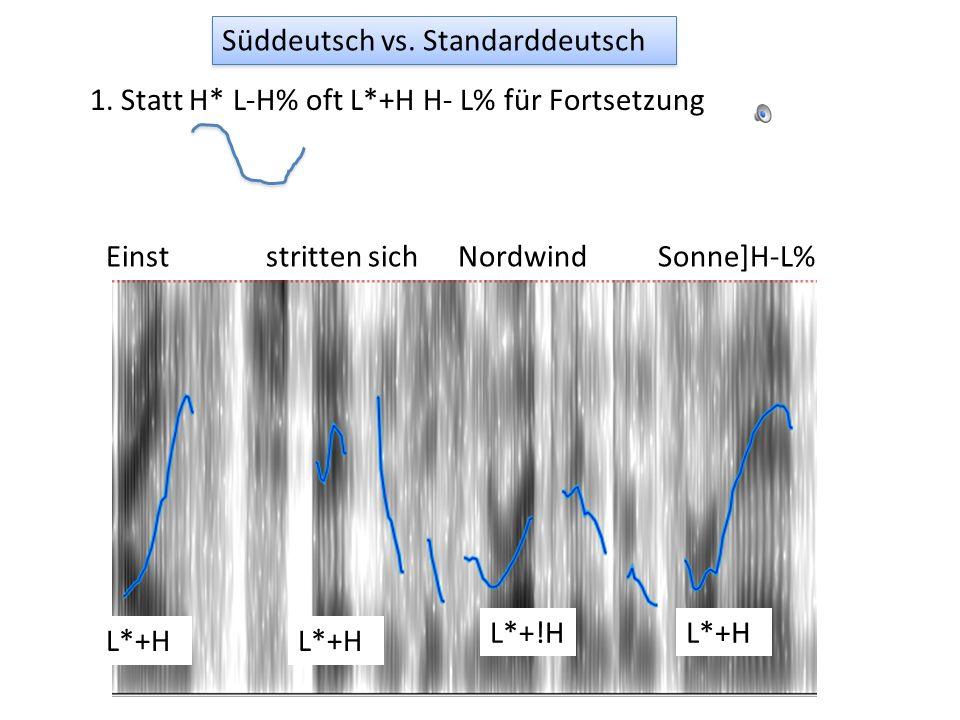 Jonathan Harrington Analyse der süddeutschen Varietäten Beispiele: Bayern aus IPS; Schweiz: Nord-Wind-und-Sonne: IPS; Nachrichtenausschnitte: Radio Ce