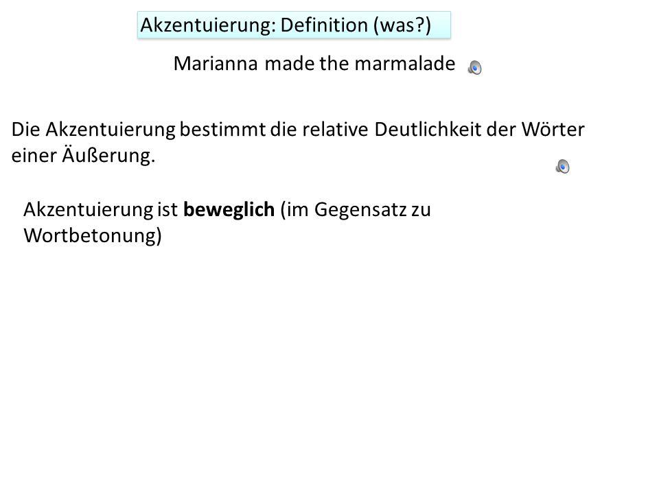 Sprachrhythmus entsteht dadurch, dass eine Regelmäßigkeit in der Verteilung der Silbenbetonungen wahrgenommen wird. In deutsch kommt diese wahrgenomme