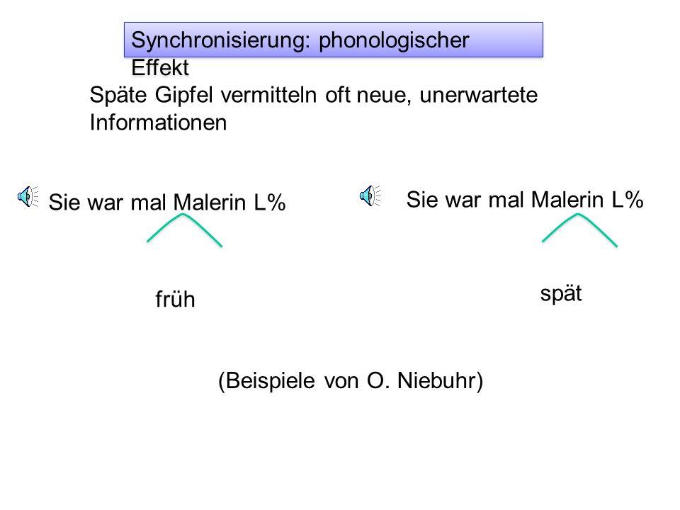 Synchronisierung Vokalgrenzen spät früh H*