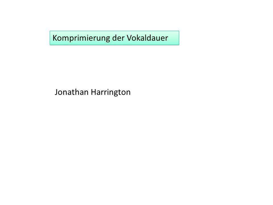 Jonathan Harrington Komprimierung der Vokaldauer