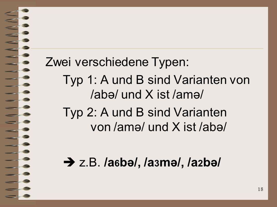 17 Stimulianordung nach dem Prinzip: AXB 3 Stimuli hintereinander präsentiert X= Teststimuli A / B = Referenzstimuli