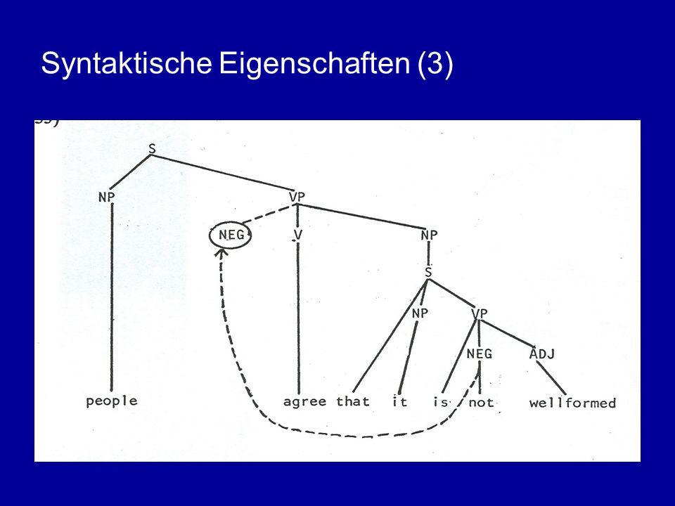 Syntaktische Eigenschaften (3)