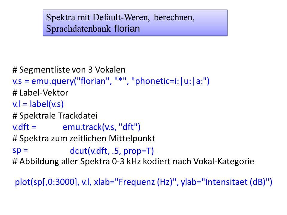 # Segmentliste von 3 Vokalen v.s = emu.query(