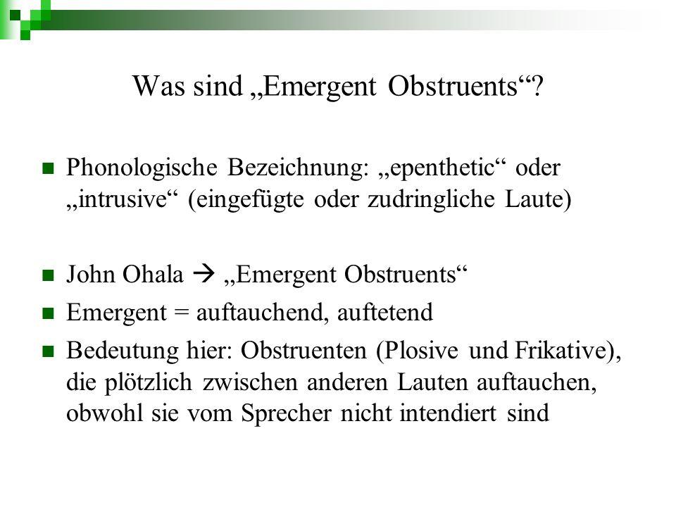 Was sind Emergent Obstruents.