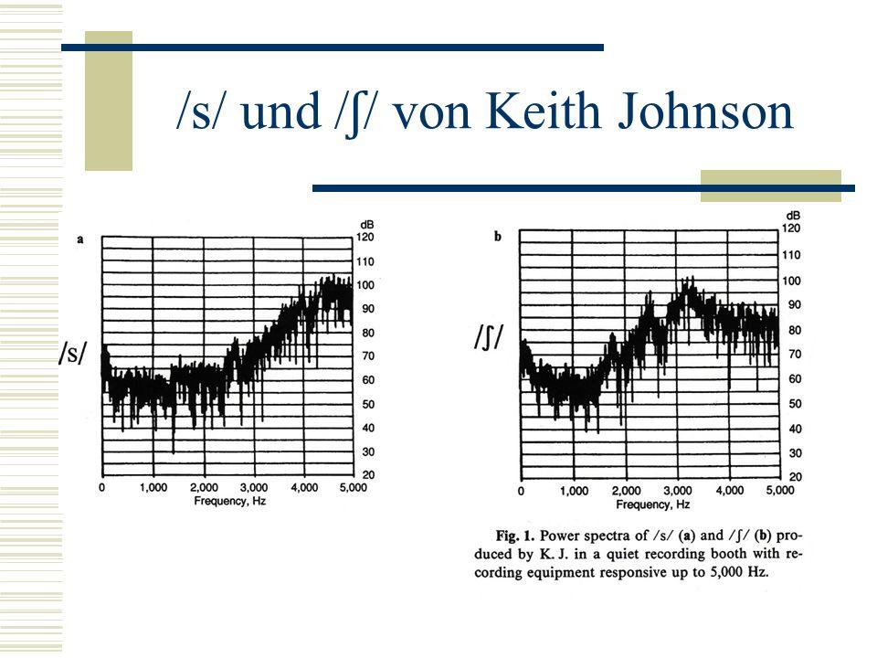 /s/ und / ʃ / von Keith Johnson