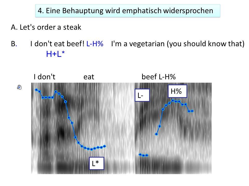 ba n a n a s aren t p oi s o n ou s]L-H% Eventuell H+L* L–H% L* 4.