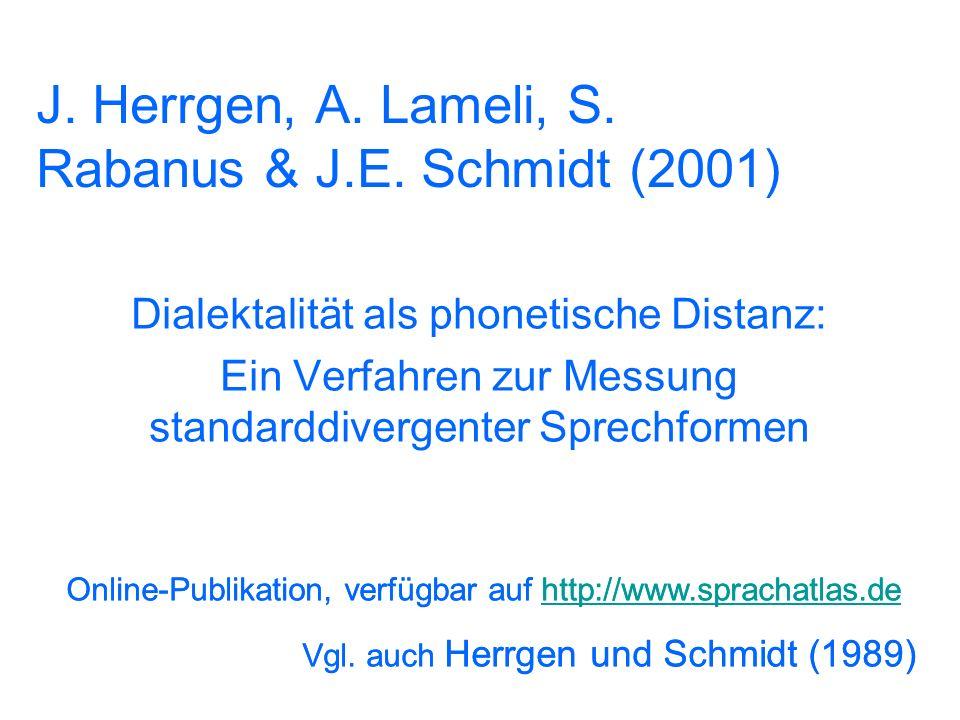23 Multidimensionale Skalierung (Heeringa 2004) Norden = lila Osten = blau Süden = grün Westen = rot Jede Varietät wird in all ihren Abständen zu alle