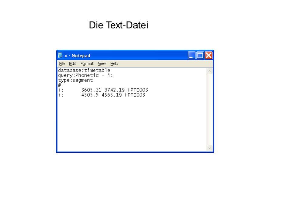 Die Text-Datei