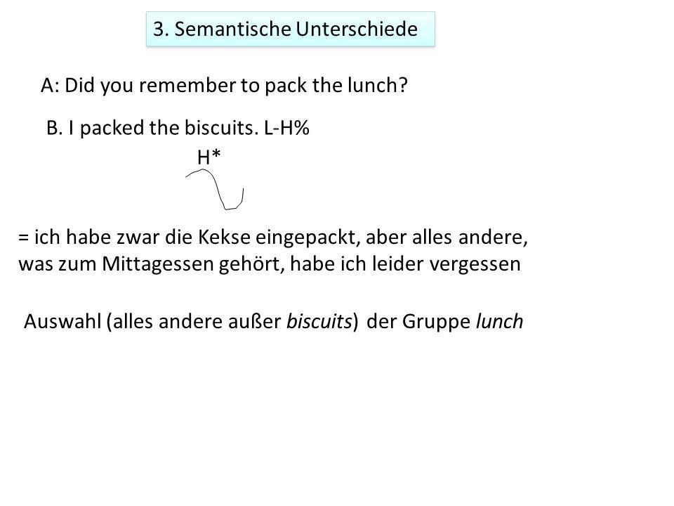 3. Semantische Unterschiede Es gibt dieselbe häufig vorkommende Melodie in beiden Sprachen.