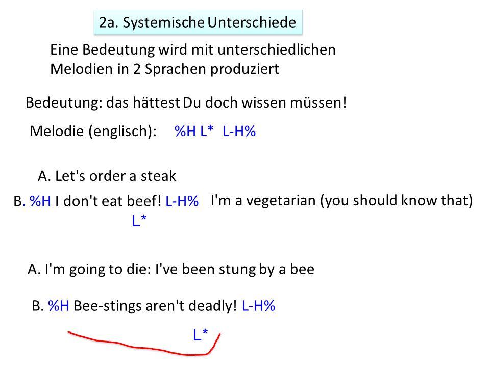 1.Realisational (phonetische) Unterschiede Dieselbe Bedeutung (z.B.