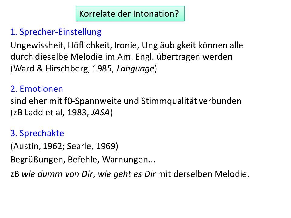 L*+H L-H% (Vorschlag bestehender Kenntnisse?) Hirschberg (2005)