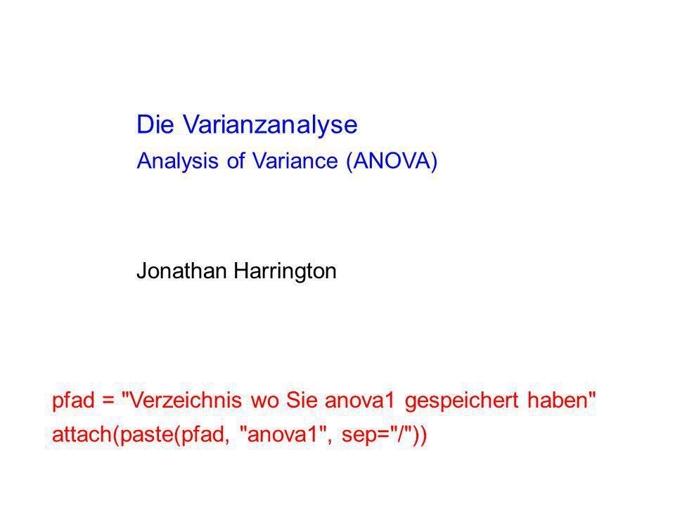 Dialekt Stufen Geschlecht Silbenposition Bayern, Hessen, Sachsen M, W initial, medial, final Faktor Variablen, Faktoren, Stufen Eine abhängige Variable (kontinuierlich)...in F2, oder in der Dauer oder in der Kieferposition usw.