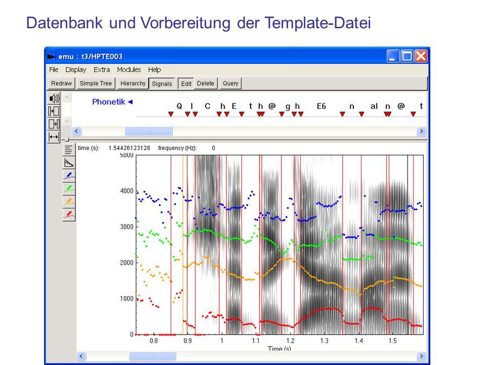 Datenbank und Vorbereitung der Template-Datei