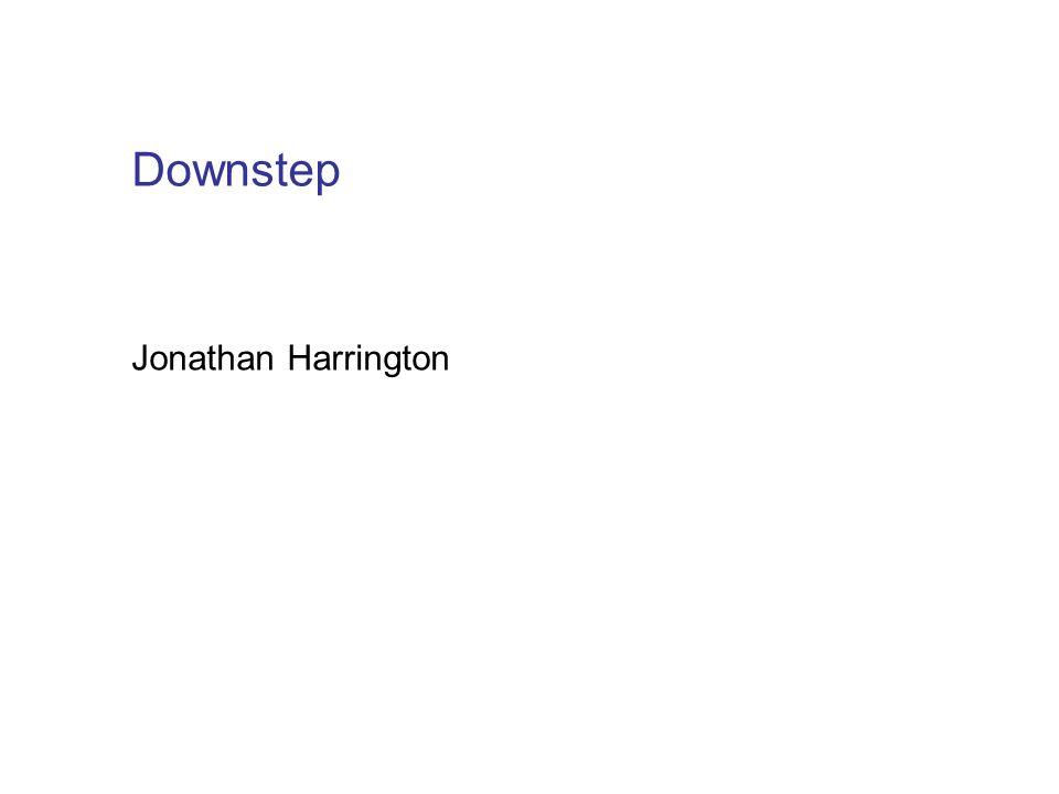 Jonathan Harrington Downstep
