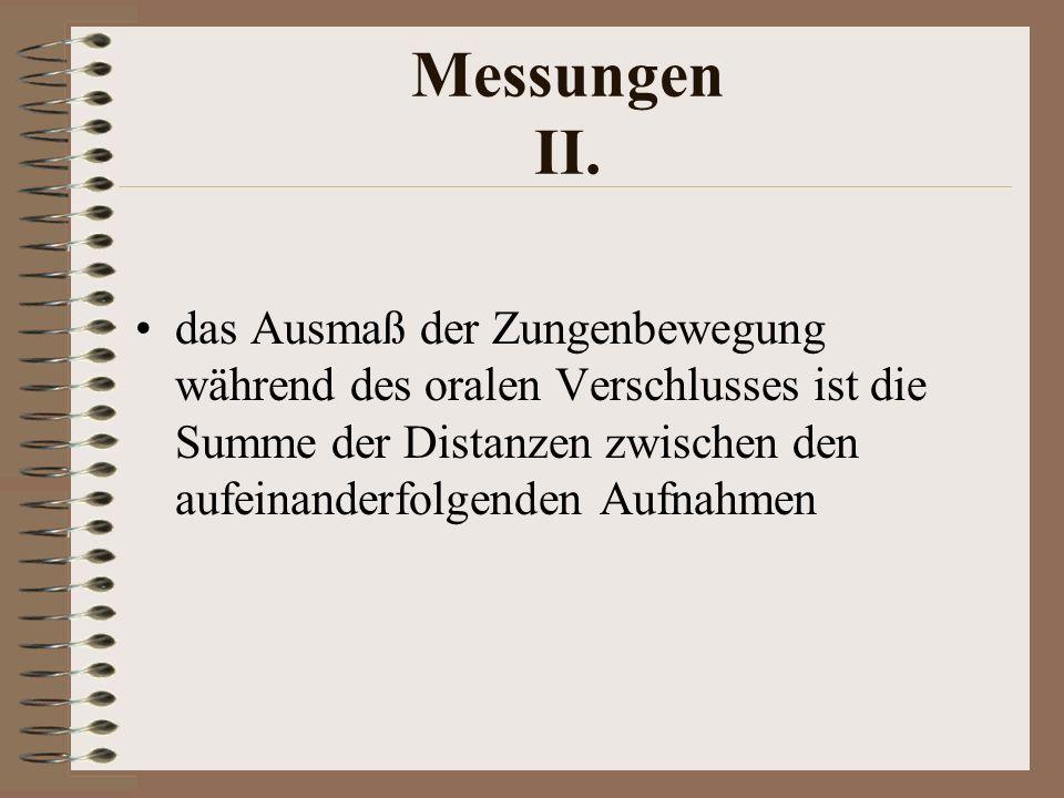 Messungen II.