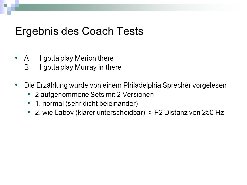 Ergebnis des Coach Tests AI gotta play Merion there BI gotta play Murray in there Die Erzählung wurde von einem Philadelphia Sprecher vorgelesen 2 aufgenommene Sets mit 2 Versionen 1.
