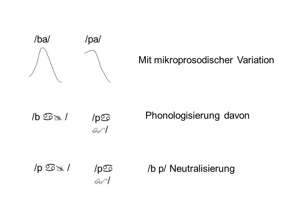 Kompensierung für Koartikulation = Hörer sind imstande, die Koartikulationseffekte aus der Sprachproduktion zu subtrahieren.