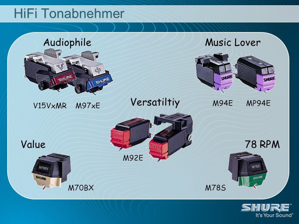 HiFi Tonabnehmer AudiophileMusic Lover Value78 RPM Versatiltiy V15VxMR M97xE M94E MP94E M92E M70BXM78S