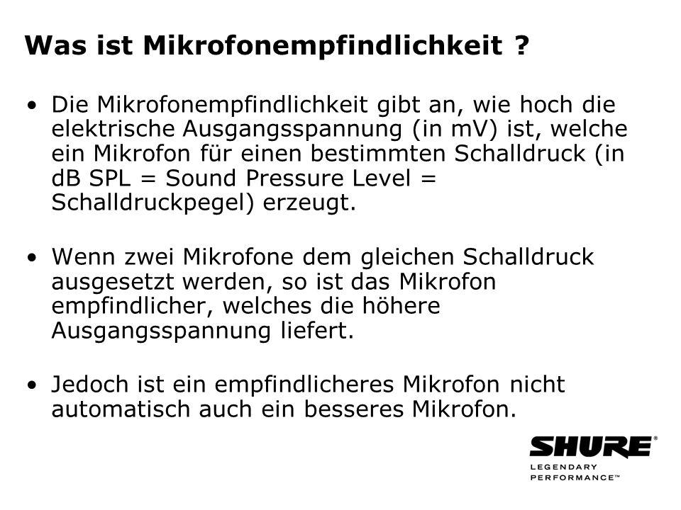 Was ist Mikrofonempfindlichkeit .