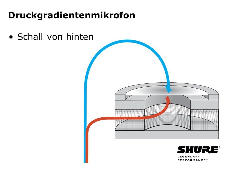 Druckgradientenmikrofon Schall von hinten