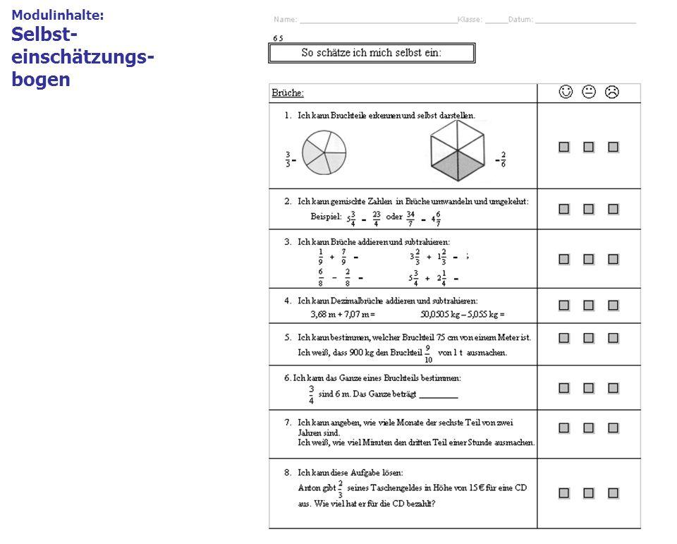 14 Modulinhalte 1.Modulbeschreibung = Deckblatt Formblatt mit den wichtigsten Angaben, z.B. Themenschwerpunkt, Kompetenzen Modulinhalte: Selbst- einsc