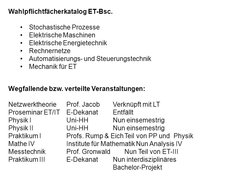 Wahlpflichtfächerkatalog ET-Bsc.