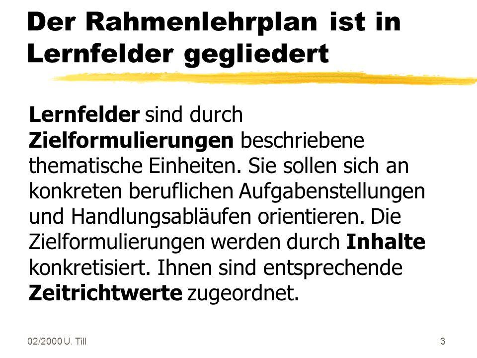 02/2000 U. Till2 - Biologielaborat(in) - Chemielaborant(in) - Lacklaborant(in) zum 1.8.2000 (?) Laborberufe
