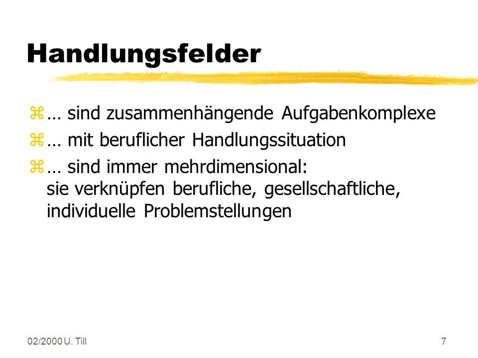 02/2000 U.Till17 Lernfelder in den Laborberufen Fachbildung Chemielaborant(in) (2.