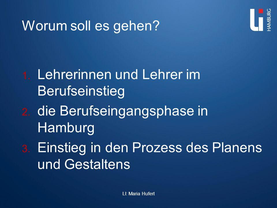 Worum soll es gehen? 1. Lehrerinnen und Lehrer im Berufseinstieg 2. die Berufseingangsphase in Hamburg 3. Einstieg in den Prozess des Planens und Gest