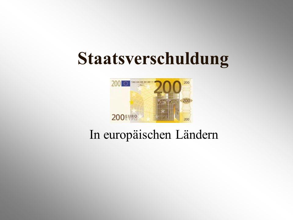 Staatsverschuldung In europäischen Ländern