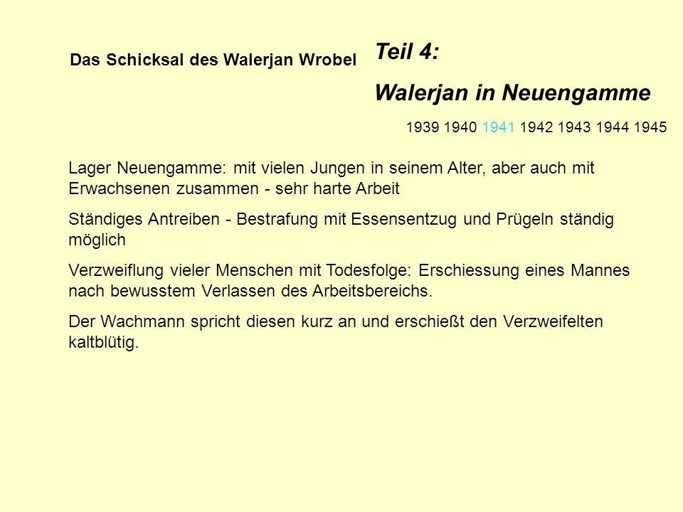 Das Schicksal des Walerjan Wrobel Verteidiger Walerjans plädiert wegen des erst 16jährigen Walerjan gegen die vom Staatsanwalt geforderte Todesstrafe.