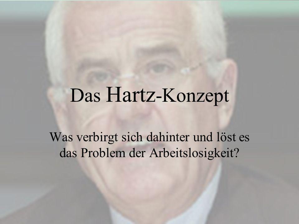 Das Hartz -Konzept Was verbirgt sich dahinter und löst es das Problem der Arbeitslosigkeit?