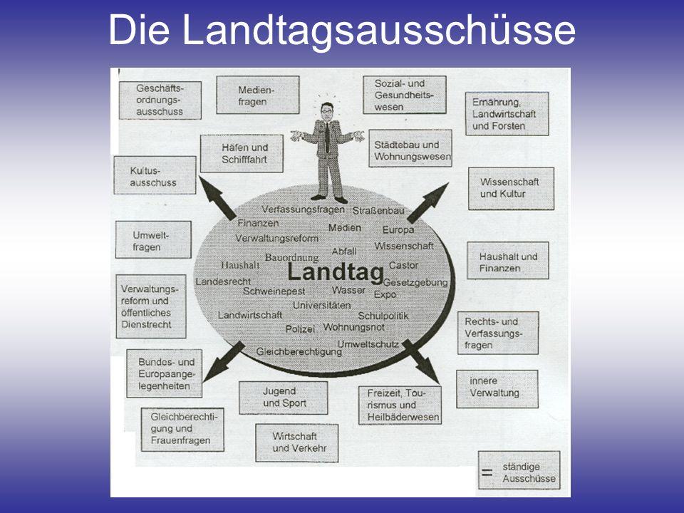 Die Landtagsausschüsse