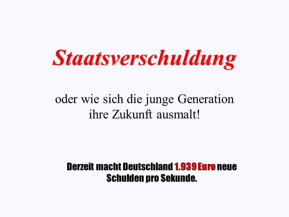 Staatsverschuldung oder wie sich die junge Generation ihre Zukunft ausmalt.