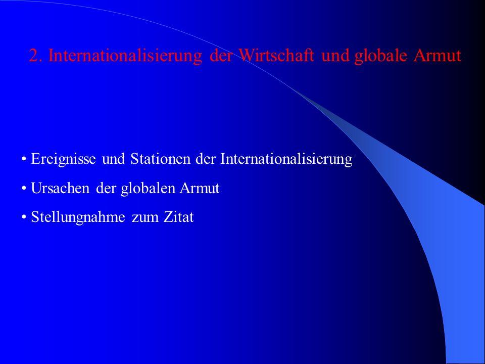 Ereignisse und Stationen der Internationalisierung Beginn im 15.Jh.