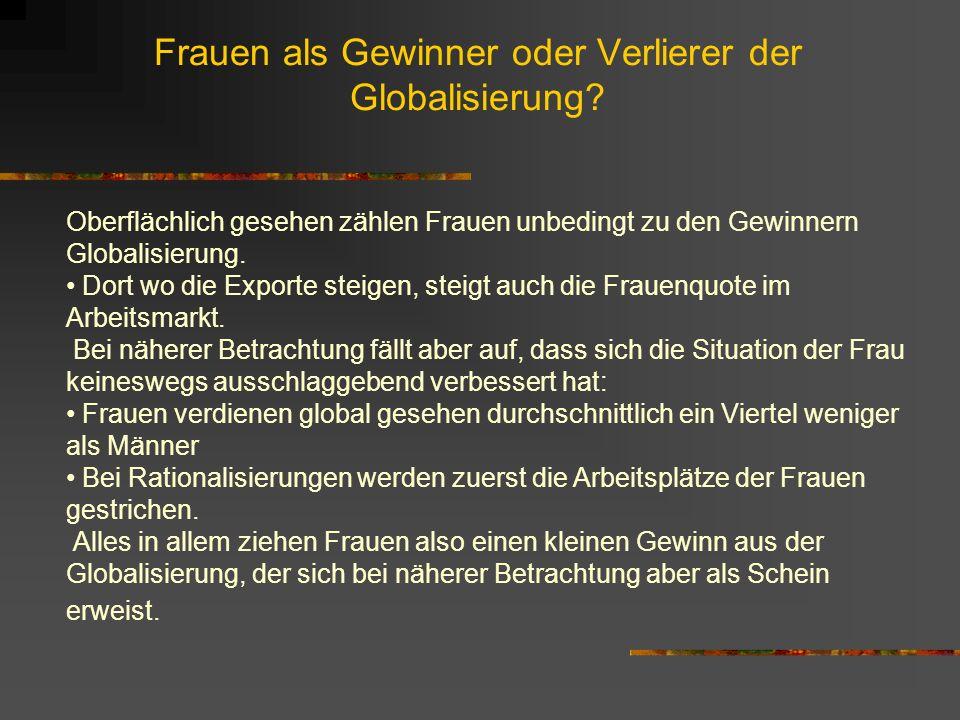 Armutsfaktoren Aus folgenden Gründen konnten ärmere Länder die Vorteile der Globalisierung bisher kaum für sich nutzen: niedriges Bildungsniveau mange