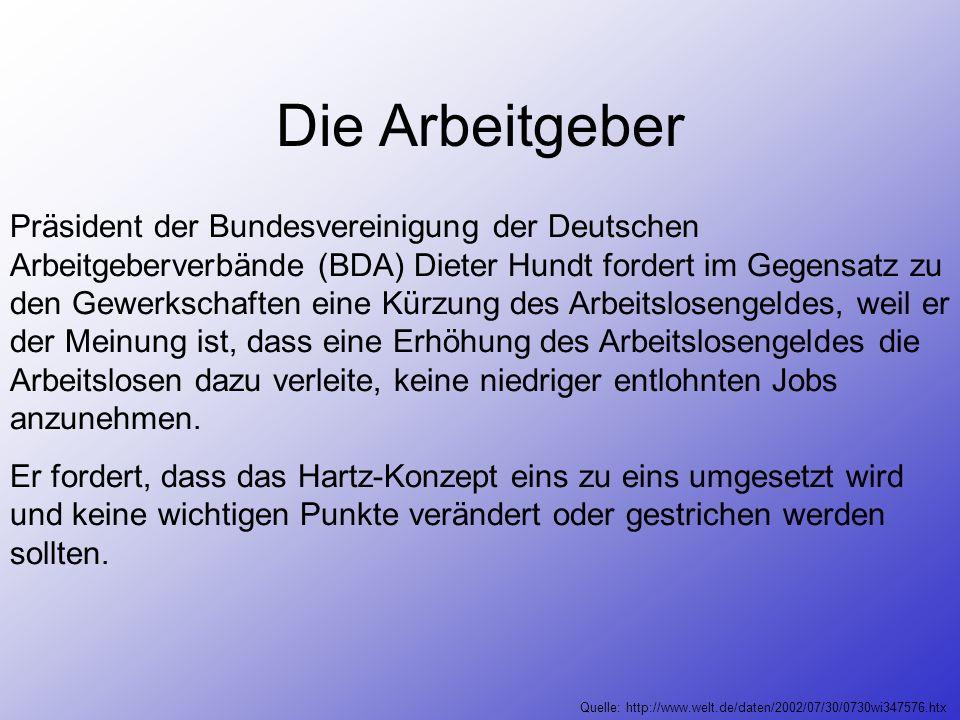 Die Gewerkschaften Isolde Kunkel – Weber äußert Kritik an der Umsetzung des Hartz – Papieres! Sie befürchtet Defizite in Milliardenhöhe bei den Sozial