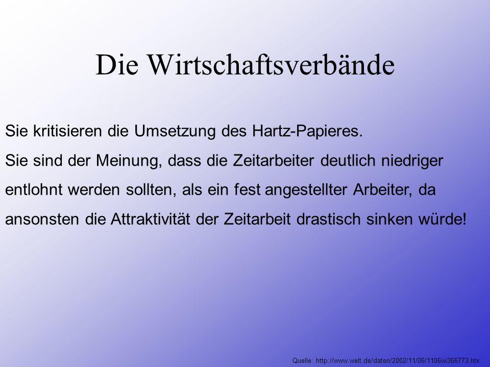 Die Arbeitgeber Präsident der Bundesvereinigung der Deutschen Arbeitgeberverbände (BDA) Dieter Hundt fordert im Gegensatz zu den Gewerkschaften eine K
