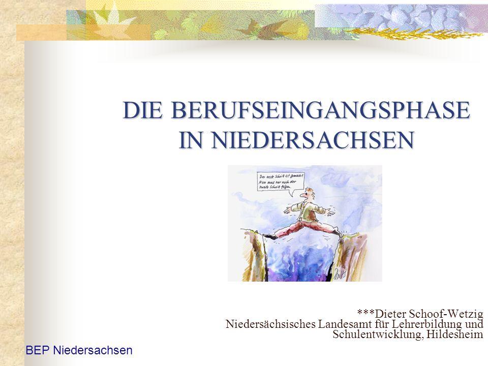 DIE BERUFSEINGANGSPHASE IN NIEDERSACHSEN ***Dieter Schoof-Wetzig Niedersächsisches Landesamt für Lehrerbildung und Schulentwicklung, Hildesheim BEP Ni