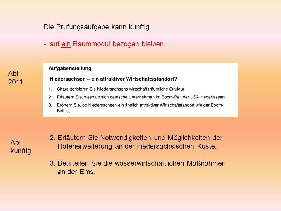 2. Erläutern Sie Notwendigkeiten und Möglichkeiten der Hafenerweiterung an der niedersächsischen Küste. 3. Beurteilen Sie die wasserwirtschaftlichen M