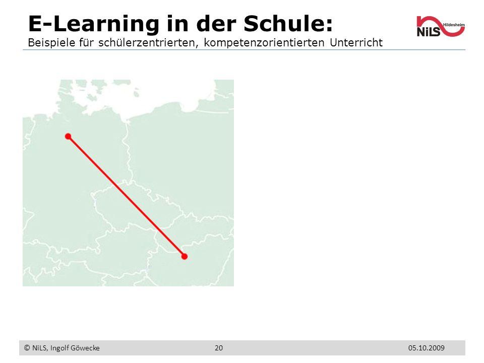 E-Learning in der Schule: Beispiele für schülerzentrierten, kompetenzorientierten Unterricht © NiLS, Ingolf Göwecke 05.10.200920