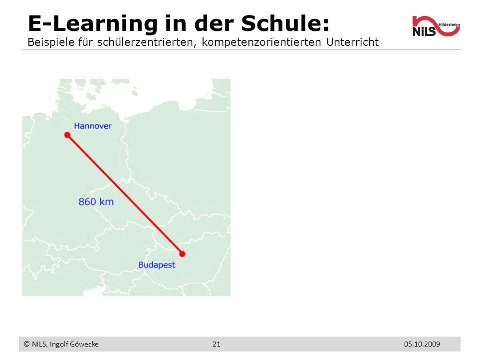 E-Learning in der Schule: Beispiele für schülerzentrierten, kompetenzorientierten Unterricht © NiLS, Ingolf Göwecke 05.10.200921