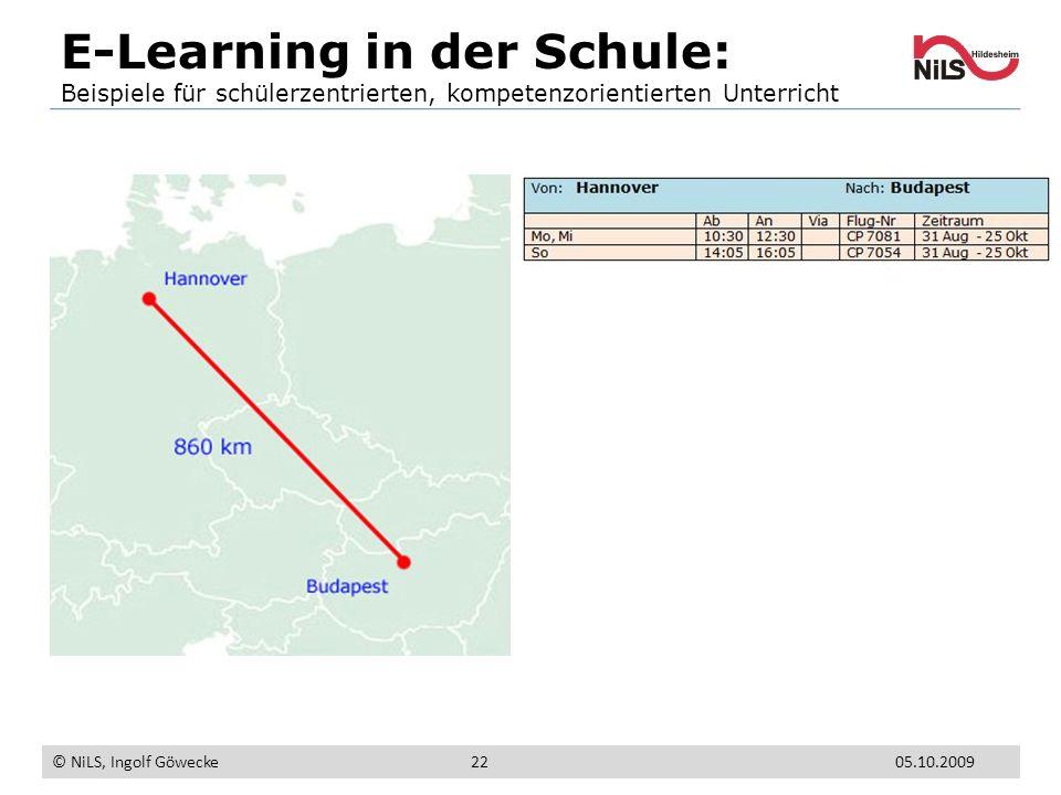 E-Learning in der Schule: Beispiele für schülerzentrierten, kompetenzorientierten Unterricht © NiLS, Ingolf Göwecke 05.10.200922