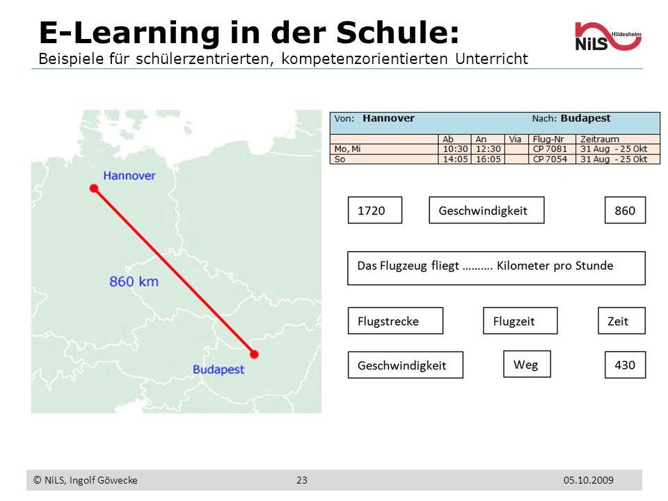 E-Learning in der Schule: Beispiele für schülerzentrierten, kompetenzorientierten Unterricht © NiLS, Ingolf Göwecke 05.10.200923