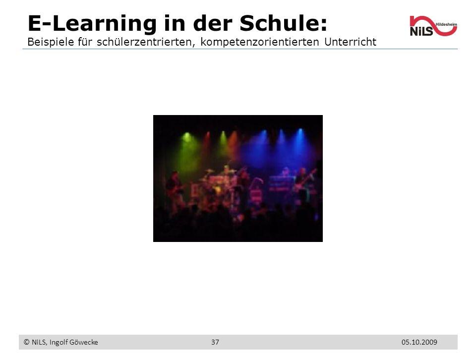 E-Learning in der Schule: Beispiele für schülerzentrierten, kompetenzorientierten Unterricht © NiLS, Ingolf Göwecke 05.10.200937