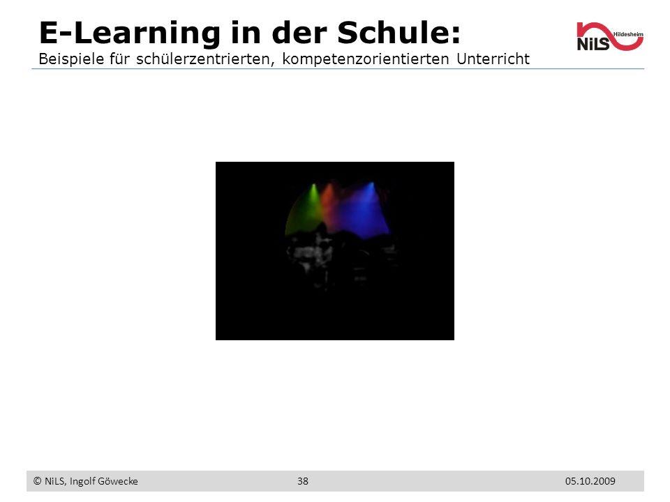 E-Learning in der Schule: Beispiele für schülerzentrierten, kompetenzorientierten Unterricht © NiLS, Ingolf Göwecke 05.10.200938