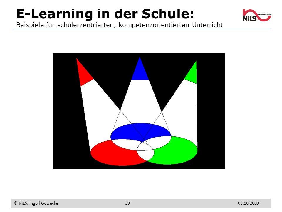 E-Learning in der Schule: Beispiele für schülerzentrierten, kompetenzorientierten Unterricht © NiLS, Ingolf Göwecke 05.10.200939