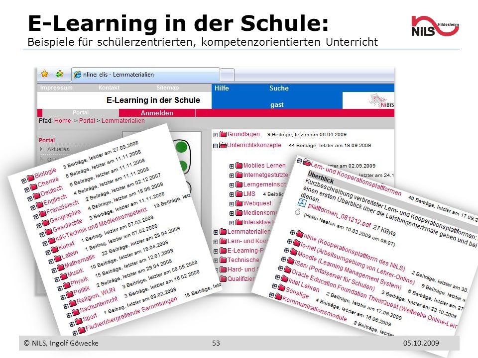 E-Learning in der Schule: Beispiele für schülerzentrierten, kompetenzorientierten Unterricht © NiLS, Ingolf Göwecke 5305.10.2009